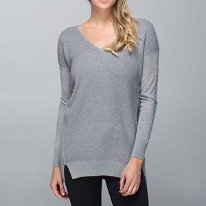 Lululemon The Sweater Life Heathered Grey